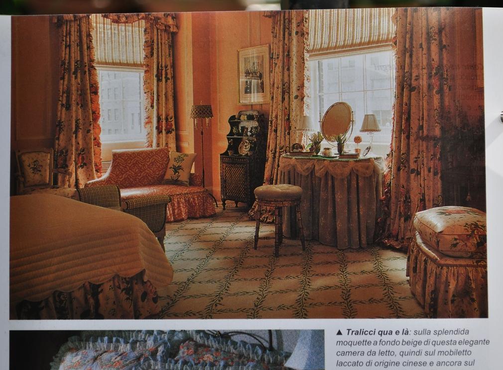 043 arredare country vol1 il disegno a traliccio stanza da letto tutto in tono su tono - Arredare stanza da letto ...