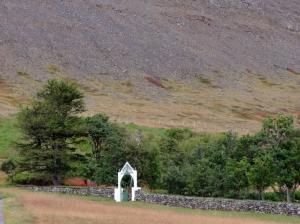 Skrudur-muro e cancello