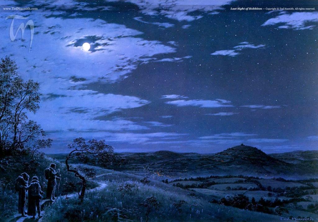 Last Sight of Hobbiton, by Ted Nasmith