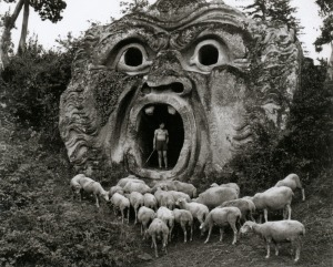 Parco dei Mostri (Park of the monsters) (XVI sec.), Bomarzo. photo by Herbert List (1952)