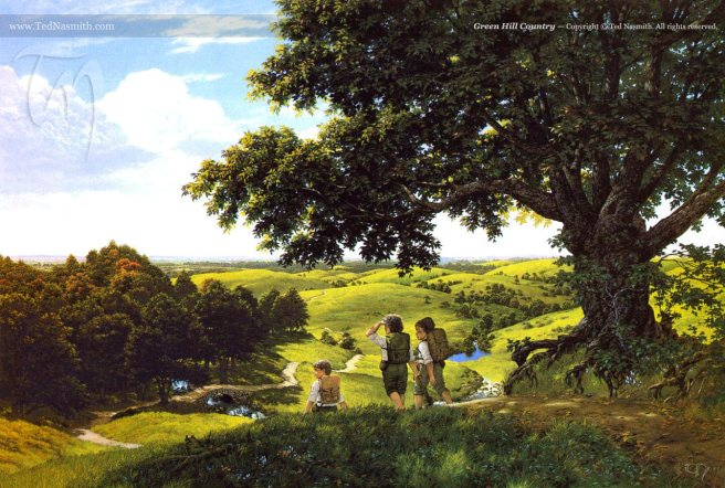 Green Hill Country by Ted Nasmith