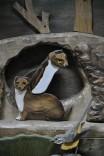 33sculture animali legno nicola sacco_donnola